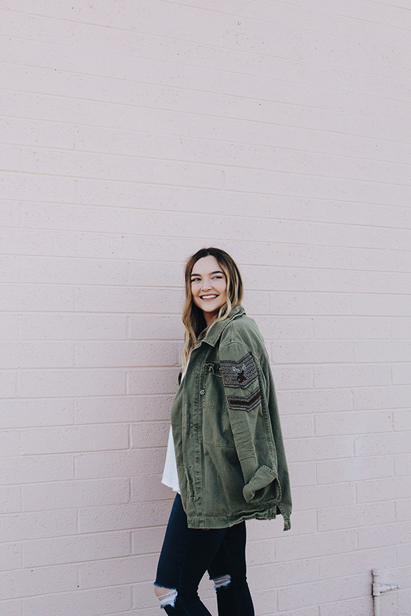 My Favorite Army Green Jacket - Love, Lauren Michelle